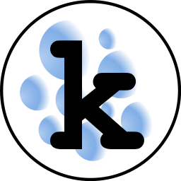 The logo - bubbley 'k'